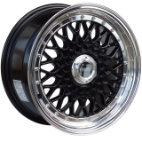 LENSO BSX 9x16 5x114,3 ET20 GLOSS BLACK / MIRROR LIP