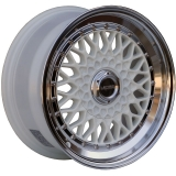 LENSO BSX 7x15 5x120 ET20 WHITE / MIRROR LIP
