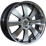 LENSO CONCERTO 8,5x18 5x130 ET35 GLOSS BLACK/ POLISHED FACE&LIP