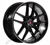 AXE WHEELS EX19 hliníkové disky 9,5x19 5x114,3 ET40 GLOSS BLACK FACE/ POLISHED LIP & BARREL