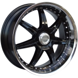 LENSO S73 7,5x18 5x98 ET35 GLOSS BLACK/ MIRROR LIP