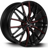 BARRACUDA PROJECT 3.0 hliníkové disky 8,5x19 5x120 ET32 Black gloss Flashred