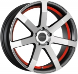 CORSPEED CHALLENGE hliníkové disky 8,5x19 5x112 ET27 Higloss-Gunmetal-polished / undercut Color Trim red