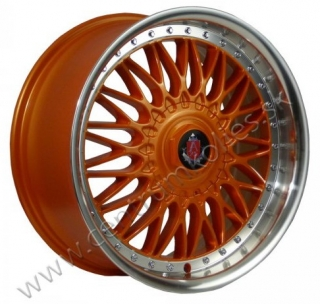 AXE WHEELS EX10 hliníkové disky 8x18 4x98 ET35 ORANGE/POLISHED LIP