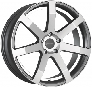 CORSPEED CHALLENGE hliníkové disky 8,5x19 5x112 ET32 Higloss-Gunmetal-polished / undercut Color Trim white