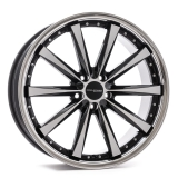 CORSPEED ARROWS hliníkové disky 8x18 5x112 ET45 Higloss black polished inox lip